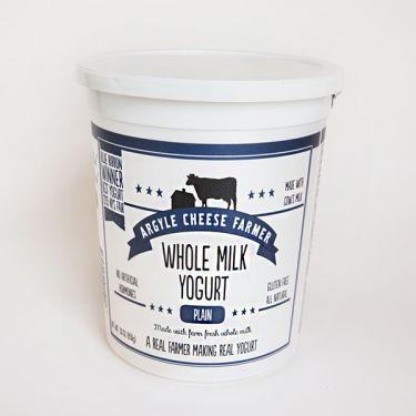 Argyle Cheese Farm Whole Milk Plain, 32oz tub