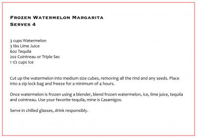 NEW RECIPE: Frozen Watermelon Margarita